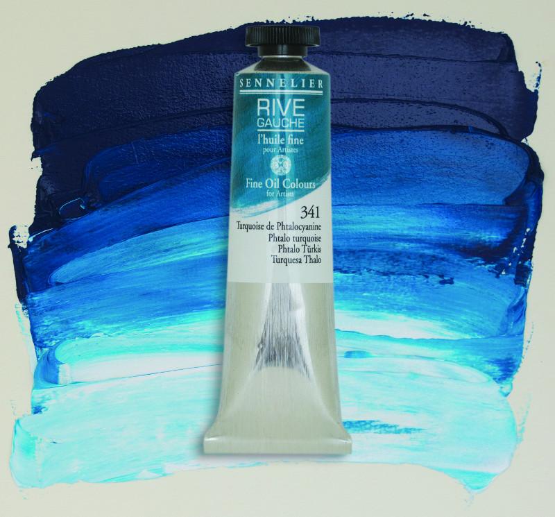 Oljefärg Sennelier Rive Gauche 40ml  Turquoise 341 (3F)