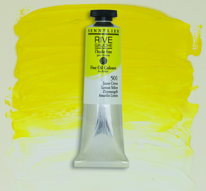 Oljefärg Sennelier Rive Gauche 40ml  Lemon Yellow 501 (3F)