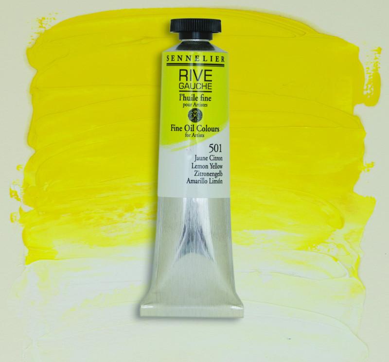 Oljefärg Sennelier Rive Gauche 40ml  Lemon Yellow 501 (3F)