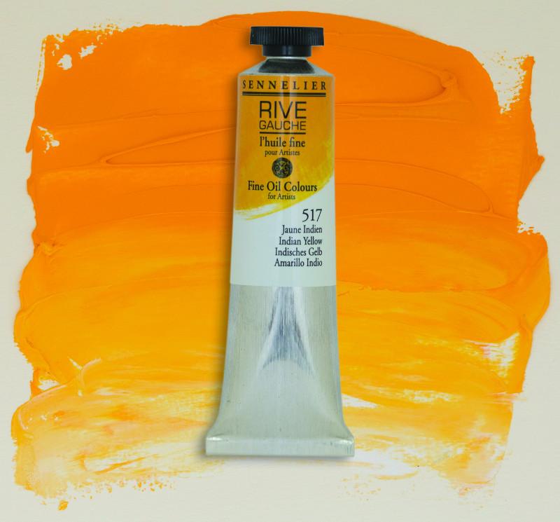 Oljefärg Sennelier Rive Gauche 40ml  Indian Yellow 517 (3F)