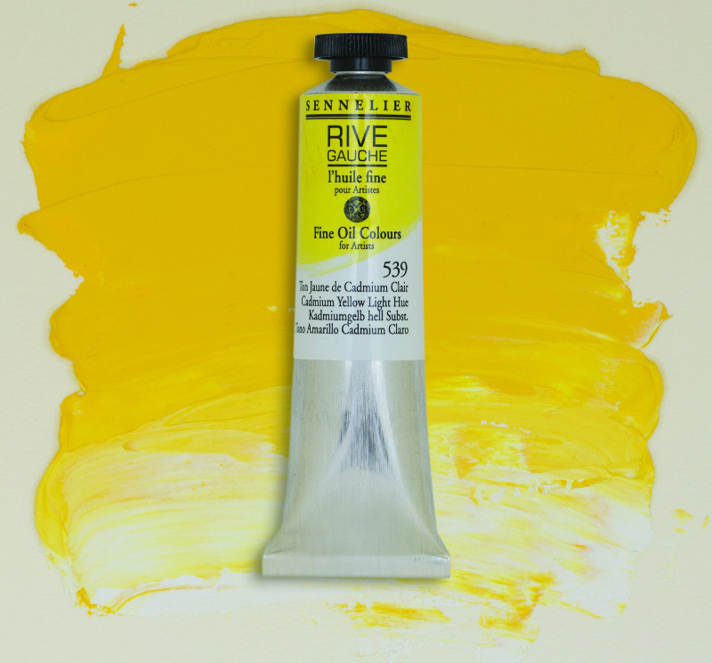 Oljefärg Sennelier Rive Gauche 40ml  Cadmium Yellow Light Hue 539 (3F)