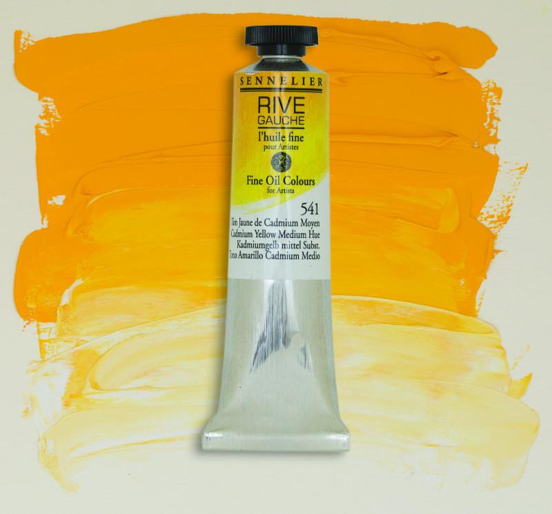 Oljefärg Sennelier Rive Gauche 40ml  Cadmium Yellow Medium Hue 541 (3F)