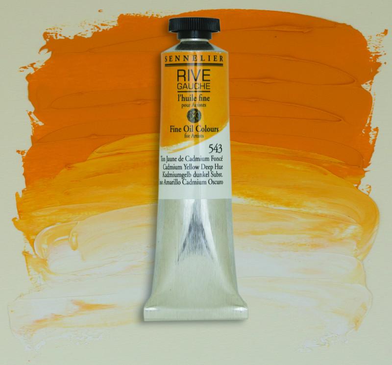 Oljefärg Sennelier Rive Gauche 40ml  Cadmium Yellow Deep Hue 543 (3F)