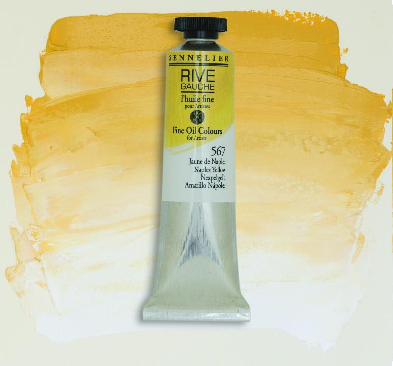 Oljefärg Sennelier Rive Gauche 40ml  Naples Yellow 567 (3F)