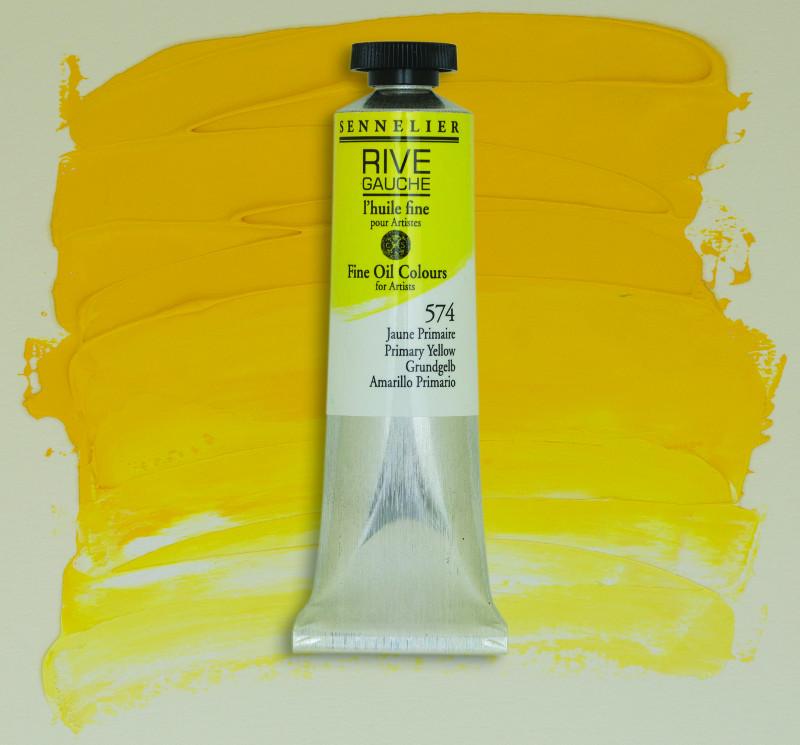 Oljefärg Sennelier Rive Gauche 40ml  Primary Yellow 574 (3F)