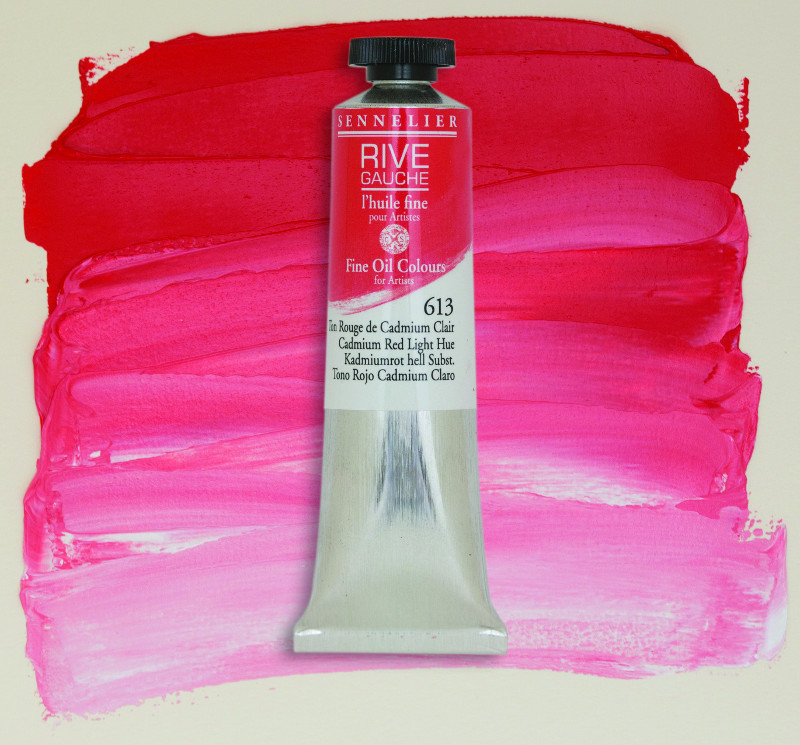 Oljefärg Sennelier Rive Gauche 40ml  Cadmium Red Light Hue 613 (3F)