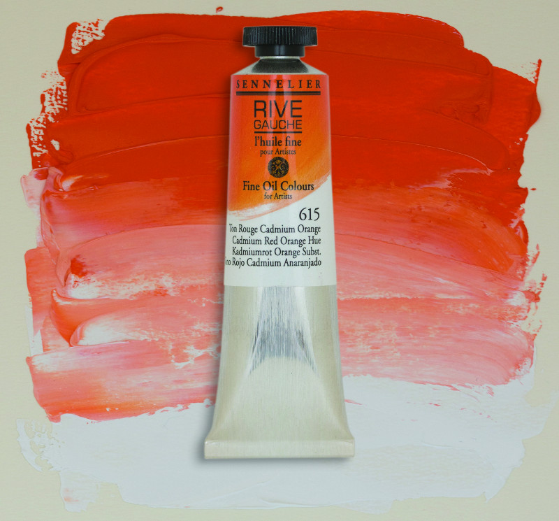 Oljefärg Sennelier Rive Gauche 40ml  Cadmium Red Orange Hue 615 (3F)