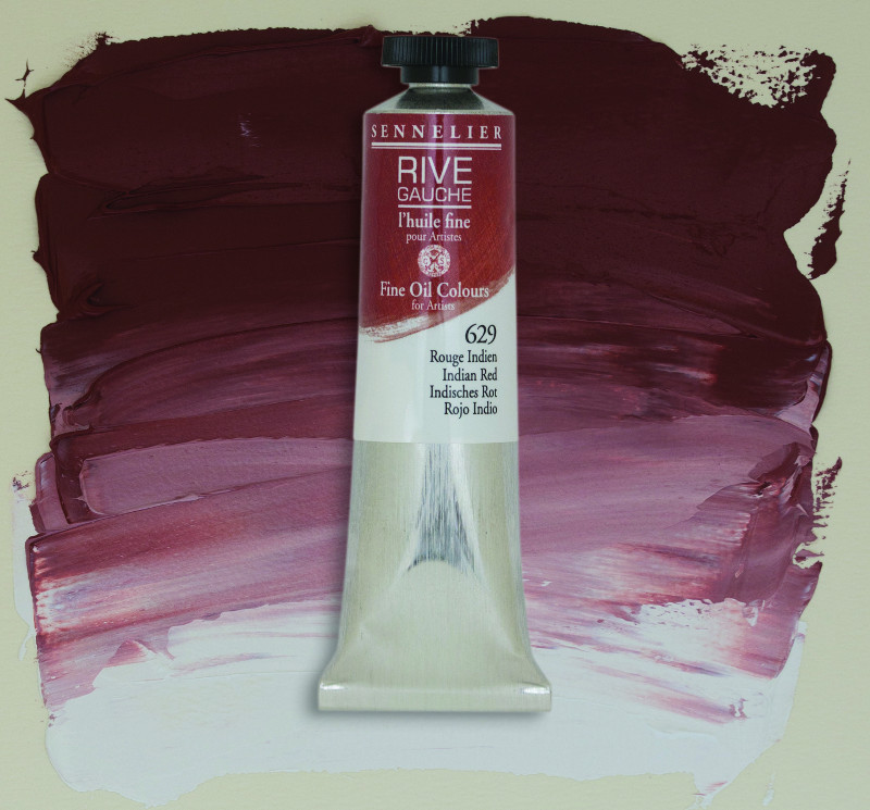 Oljefärg Sennelier Rive Gauche 40ml  Indian Red 629 (3F)