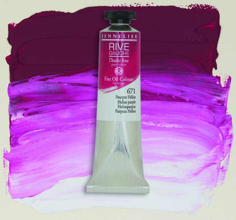 Oljefärg Sennelier Rive Gauche 40ml  Helios Purple 671 (3F)