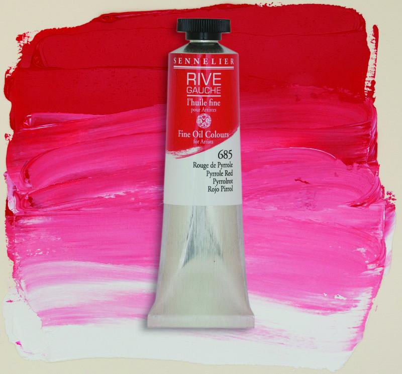 Oljefärg Sennelier Rive Gauche 40ml  Pyrrole Red 685 (3F)