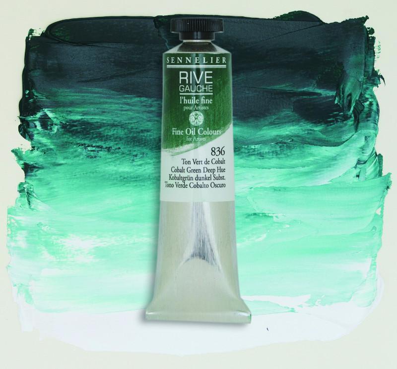 Oljefärg Sennelier Rive Gauche 40ml  Cobalt Green Deep Hue 836 (3F)