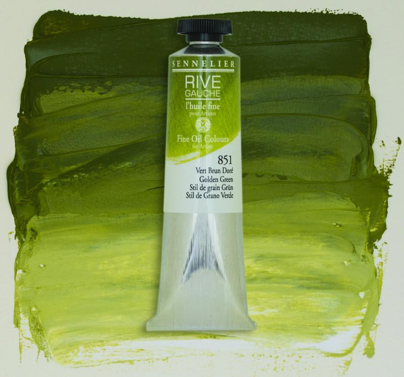 Oljefärg Sennelier Rive Gauche 40ml  Golden Green 851 (3F)
