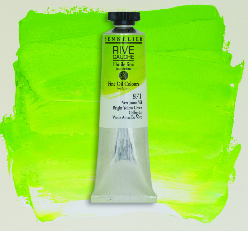 Oljefärg Sennelier Rive Gauche 40ml  Bright Yellow Green 871 (3F)