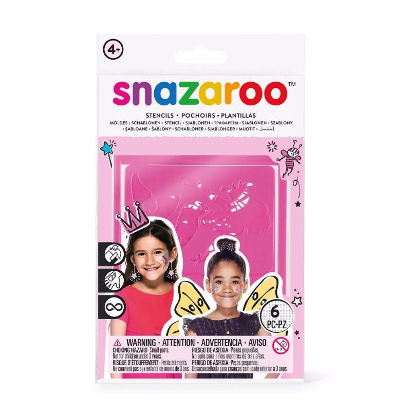 Ansiktskritset Snazaroo 6 Face paint stencils girl