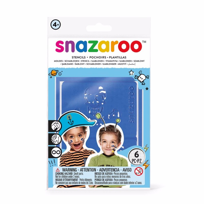 Ansiktskritset Snazaroo 6 Face paint stencils boy