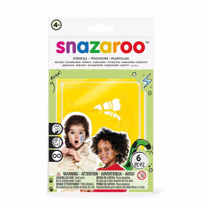 Ansiktskritset Snazaroo 6 Face paint stencil unisex