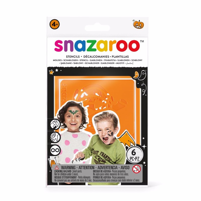 Ansiktskritset Snazaroo 6 Face paint stencil halloween