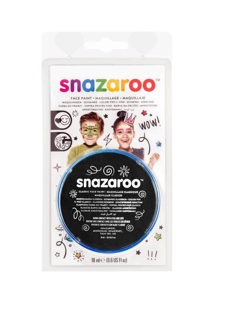 Ansiktsfärg Snazaroo 18ml Blister Black (5F)