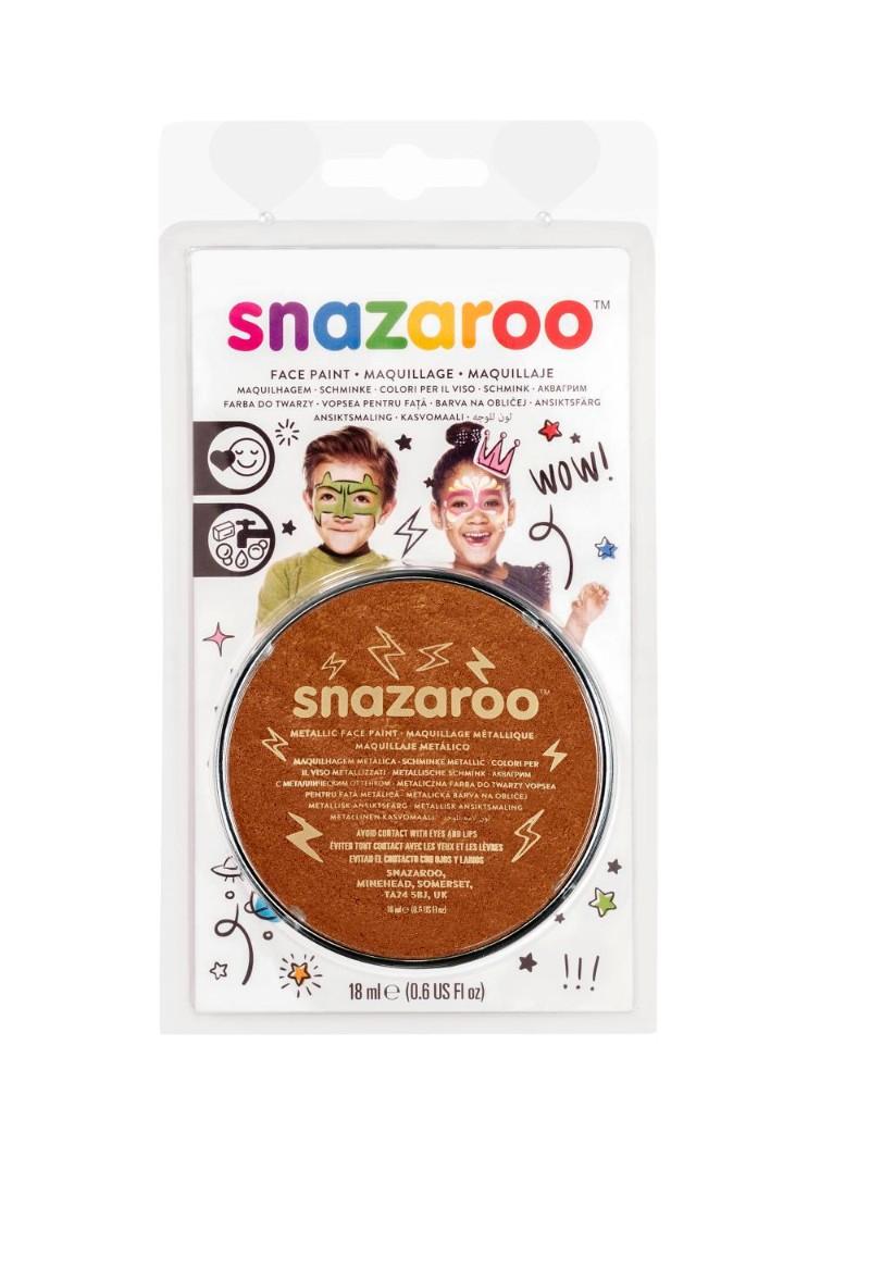 Ansiktsfärg Snazaroo 18ml Blister Metallic Electric Copper (5F)