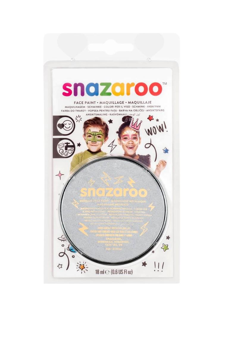Ansiktsfärg Snazaroo 18ml Blister Metallic Electric Silver (5F)