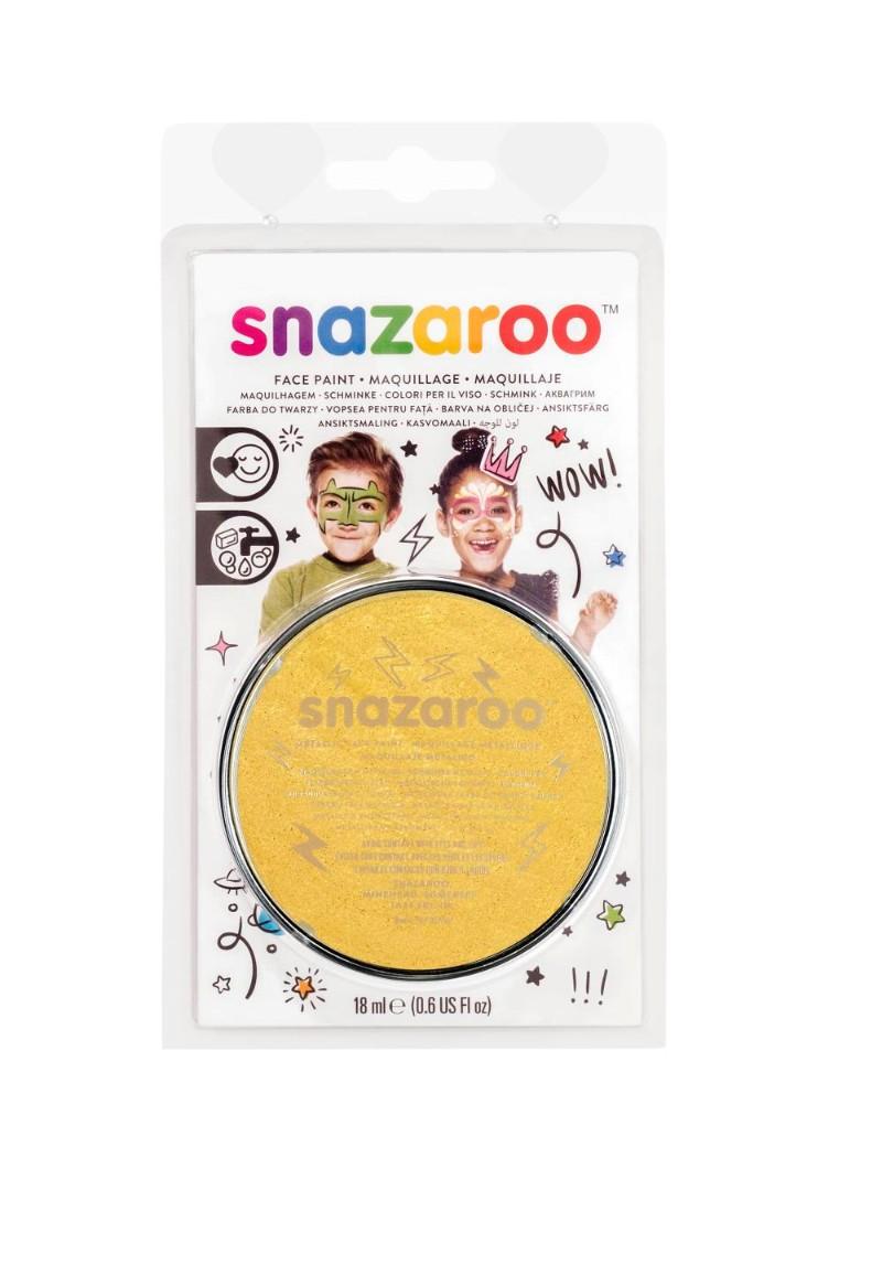 Ansiktsfärg Snazaroo 18ml Blister Metallic Electric Gold (5F)