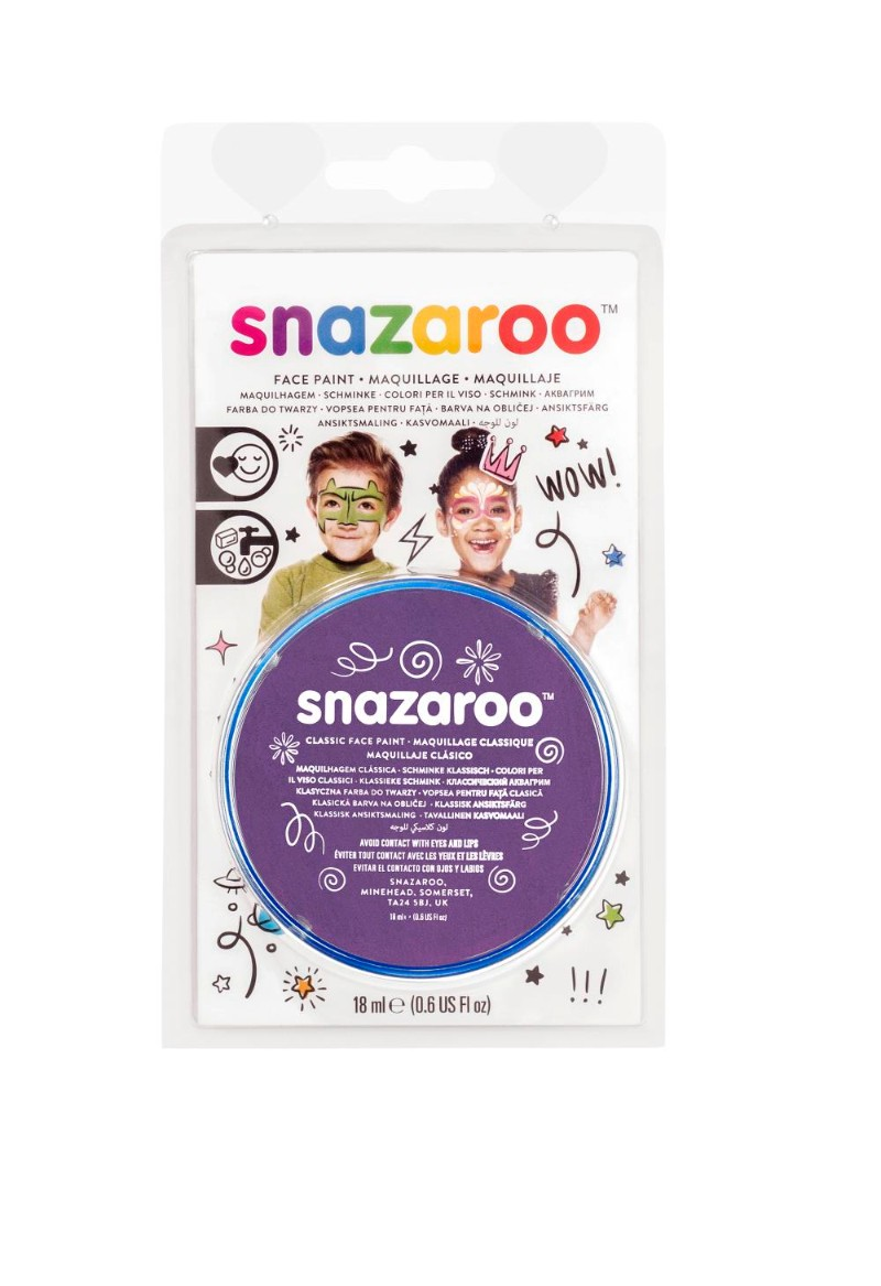 Ansiktsfärg Snazaroo 18ml Blister Purple (5F)