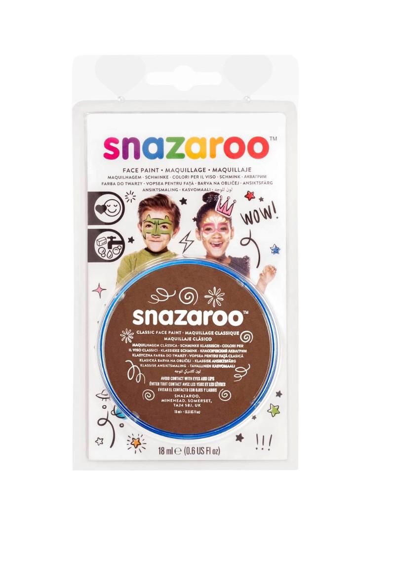 Ansiktsfärg Snazaroo 18ml Blister Light brown (5F)