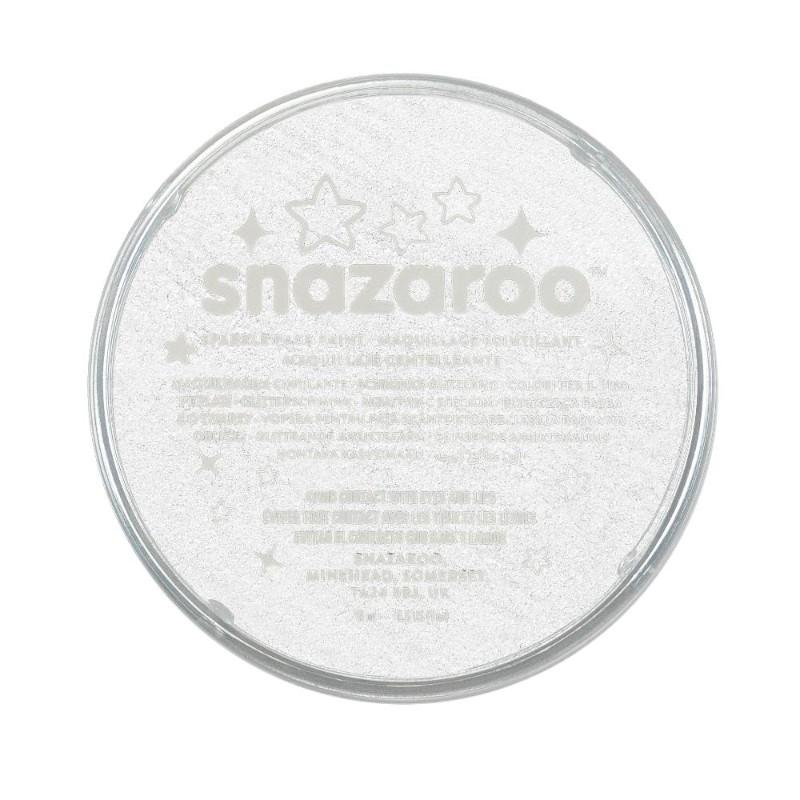 Ansiktsfärg Snazaroo 18ml Puck Skimrande Sparkle White (5F)