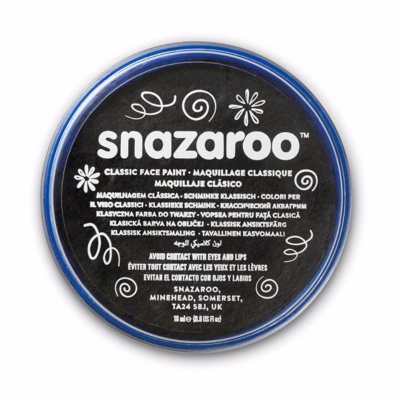 Ansiktsfärg Snazaroo 18ml Puck Metallic Electric Black (5F)
