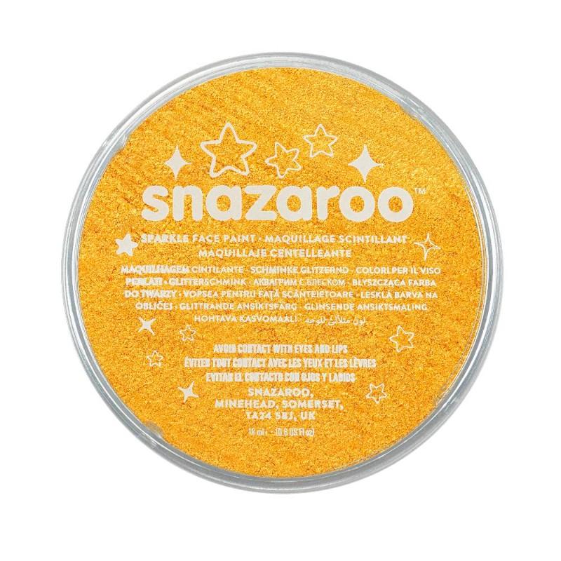 Ansiktsfärg Snazaroo 18ml Puck Skimrande Sp. Yellow   (5F)