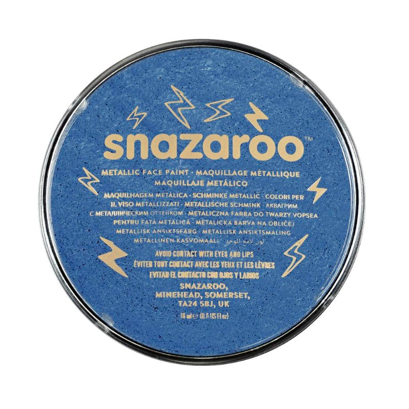 Ansiktsfärg Snazaroo 18ml Puck Metallic Electric blue   (5F)