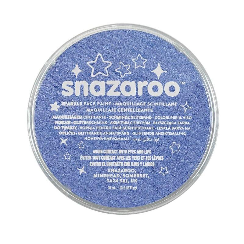 Ansiktsfärg Snazaroo 18ml Puck Skimrande Sparkle Blue (5F)