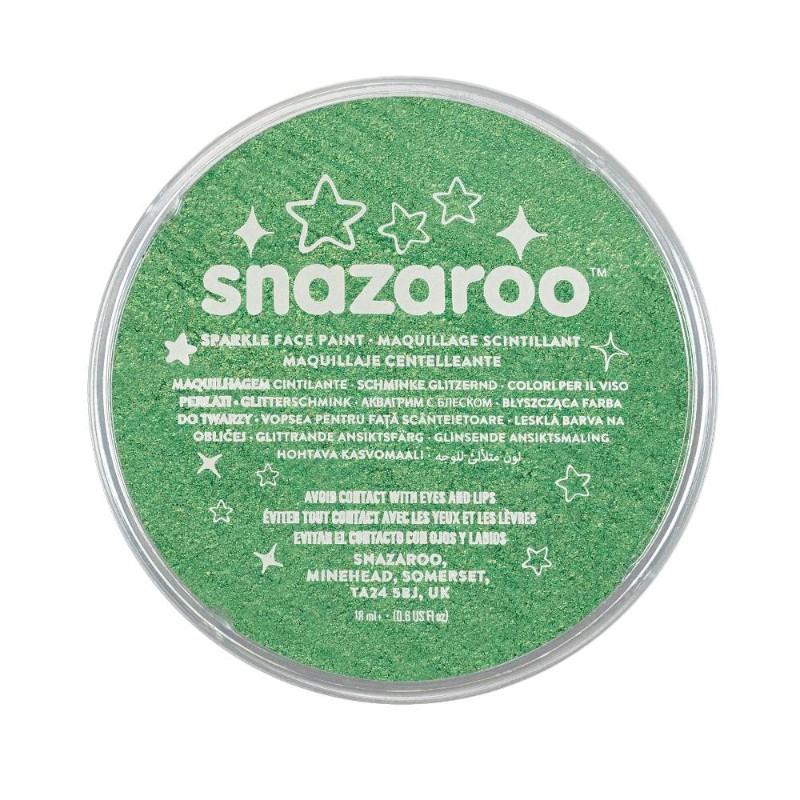 Ansiktsfärg Snazaroo 18ml Puck Skimrande Sparkle Pale green (5F)