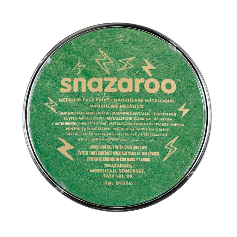 Ansiktsfärg Snazaroo 18ml Puck Metallic Electric green    (5F)