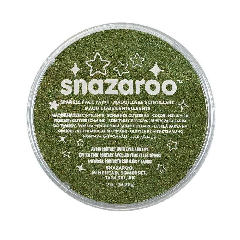 Ansiktsfärg Snazaroo 18ml Puck Skimrande Sparkle Green   (5F)