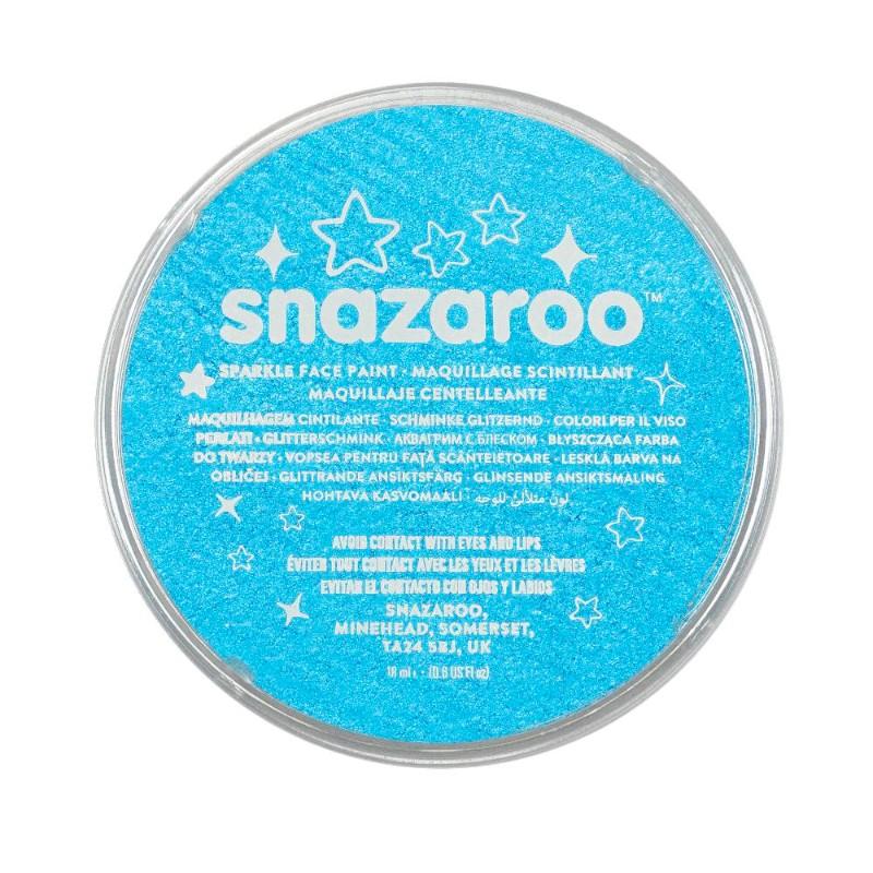 Ansiktsfärg Snazaroo 18ml Puck Skimrande Sparkle Turquoise   (5F)