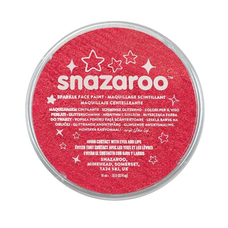 Ansiktsfärg Snazaroo 18ml Puck Skimrande Sparkle Red (5F)