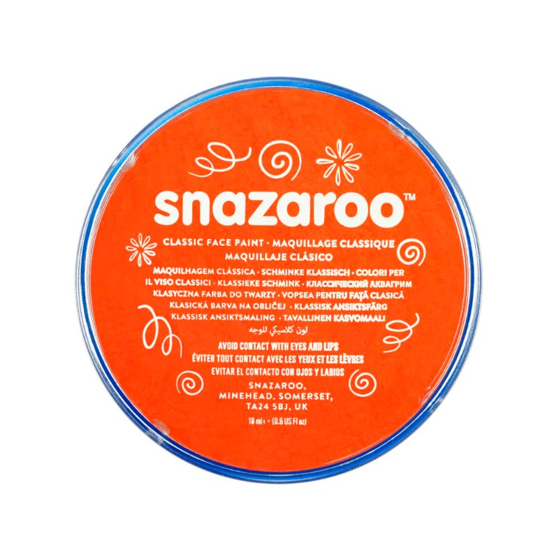 Ansiktsfärg Snazaroo 18ml Puck Dark orange     (5F)
