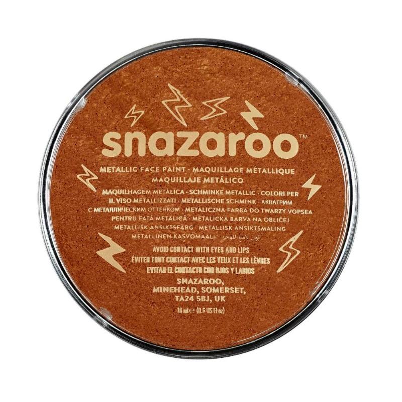 Ansiktsfärg Snazaroo 18ml Puck Metallic Electric Koppar (5F)