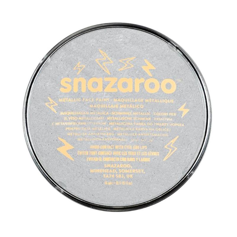 Ansiktsfärg Snazaroo 18ml Puck Metallic Electric Silver (5F)