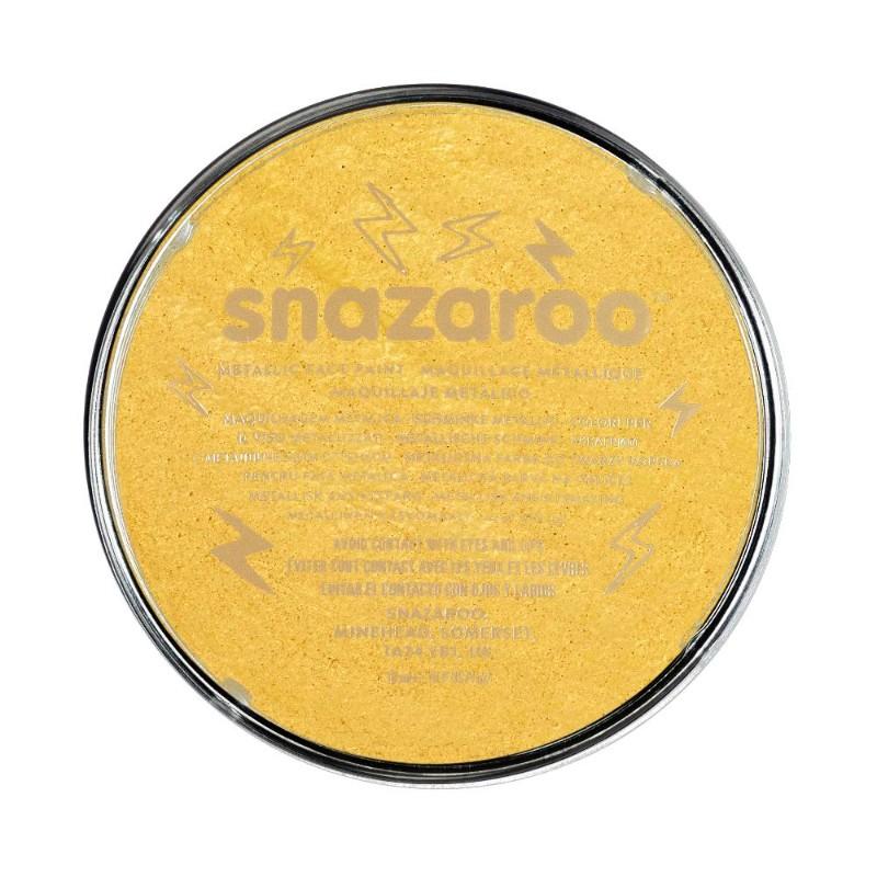 Ansiktsfärg Snazaroo 18ml Puck Metallic Electric Guld (5F)