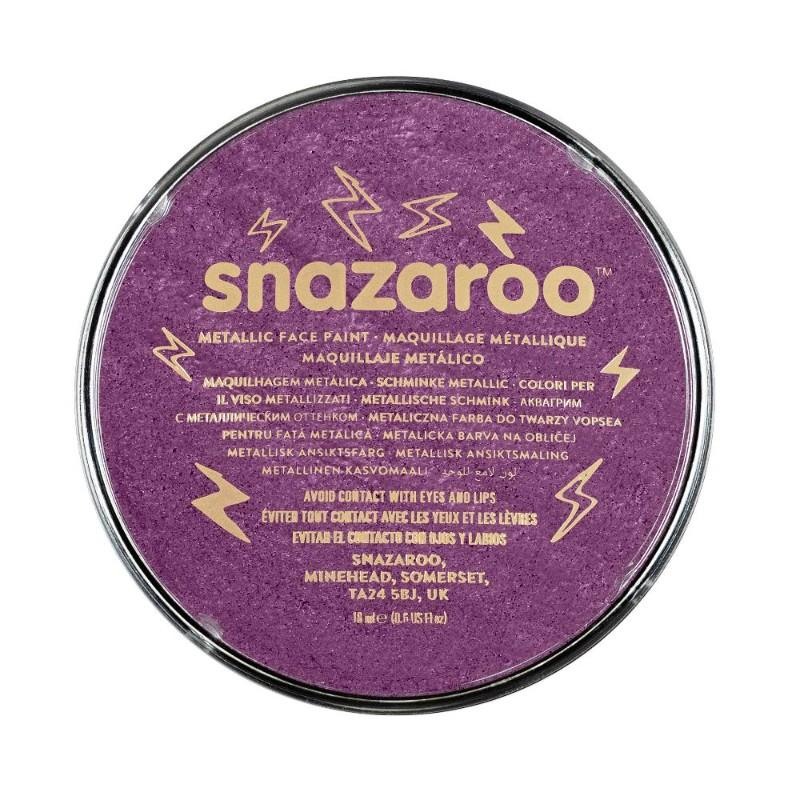 Ansiktsfärg Snazaroo 18ml Puck Metallic Electric purple   (5F)