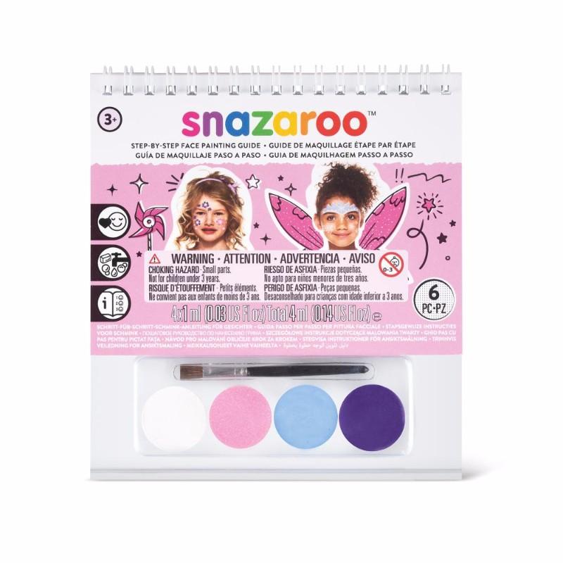 Ansiktsbok Snazaroo A6 Girl 4x1ml & pensel (6F) Utgår