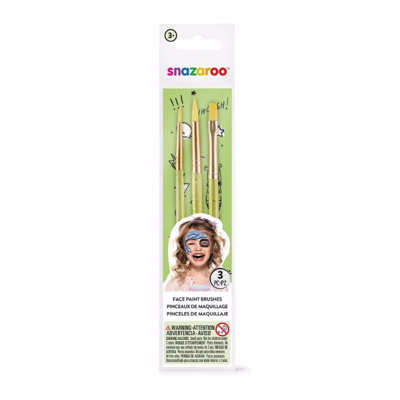 Ansiktspenselset Snazaroo Makeup-penslar 3 st i set