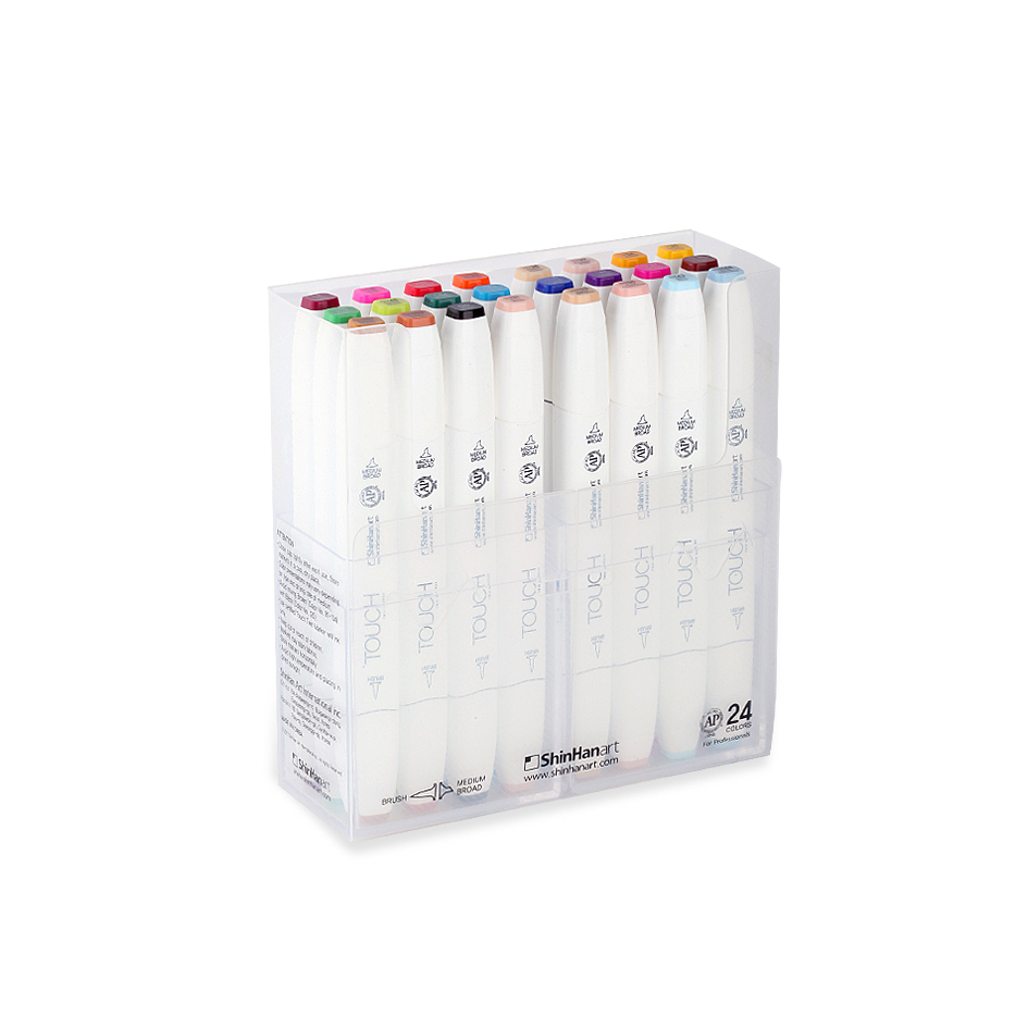 Touch Twin 24 BRUSH Marker Set