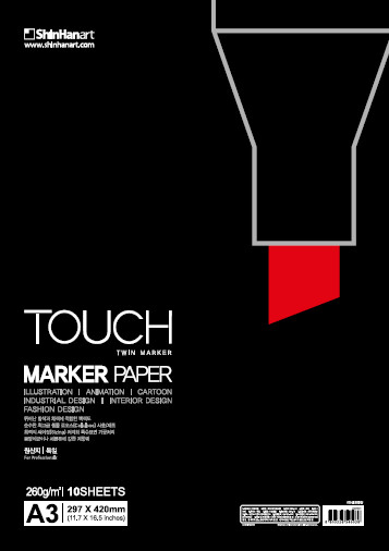 Markerpapper Touch marker paper A4 260g 10-p