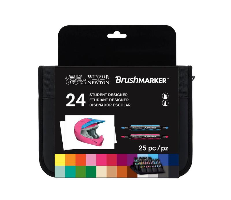 Brushmarkerset Winsor & Newton 24 Student Designer Set