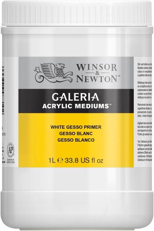 Akrylmedium Galeria Gesso allgrund 1 l / White Gesso Primer