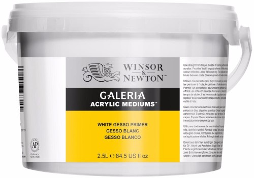 Akrylmedium Galeria Gesso allgrund 2,5 l / White Gesso Primer