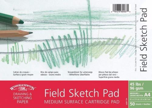 Skissblock Winsor & Newton Field Sketch Pad 96g A4 50ark spiral (6F)